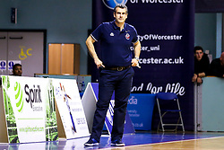 Bristol Flyers head coach, Andreas Kapoulas - Mandatory by-line: Robbie Stephenson/JMP - 05/10/2018 - BASKETBALL - University of Worcester Arena - Worcester, England - Bristol Flyers v Worcester Wolves - British Basketball League