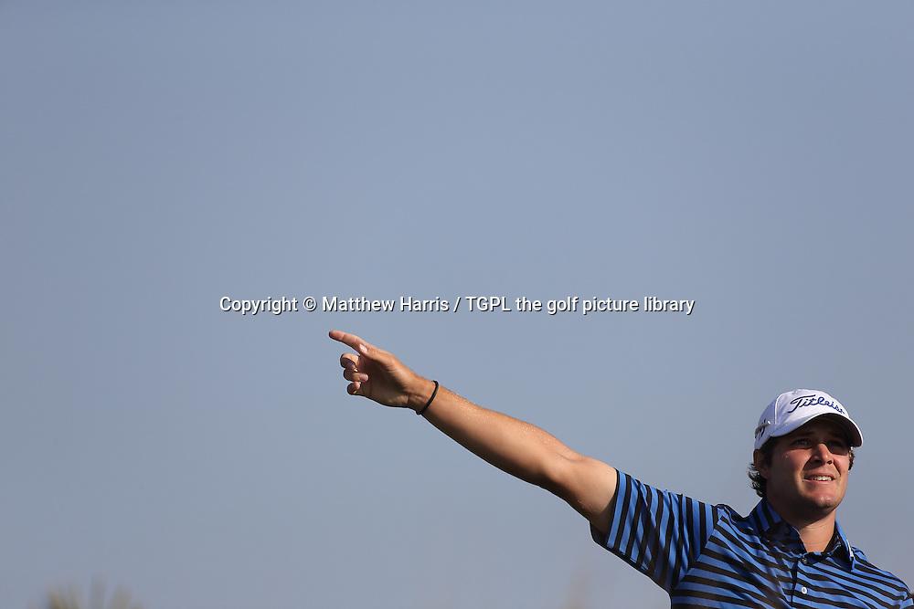 Peter UIHLEIN (US) during second round Commercialbank Qatar Masters 2014,Doha Golf Club,Doha,Qatar.