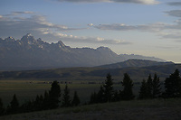 Sunrise on the Teton Range from Curtis Canyon