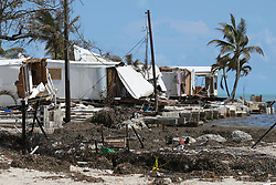 Destroyed trailers at the Seabreeze trailer park along the Overseas Highway in the Florida Keys on Tuesday, September 12, 2017. Photo by Al Diaz/Miami Herald/TNS/ABACAPRESS.COM