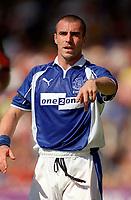 David Unsworth (Everton) Exeter City v Everton, Pre-Season Friendly, 5/08/2000. Credit: Colorsport / Matthew Impey