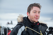 UNIS students Stephen Jennings on a class field trip to Tempelfjorden and Tunabreen, Svalbard.