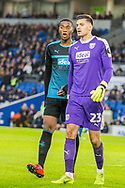 Tosin Adarababioyo (West Brom) & Jonathan Bond (GK) (West Brom) during the FA Cup fourth round match between Brighton and Hove Albion and West Bromwich Albion at the American Express Community Stadium, Brighton and Hove, England on 26 January 2019.