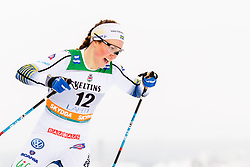 February 9, 2019 - Lahtis, FINLAND - 190209  Moa Lundgren of Sweden competes in the women's sprint qualification during the FIS Cross-Country World Cup on February 9, 2019 in Lahti..Photo: Johanna Lundberg / BILDBYRN / 135946 (Credit Image: © Johanna Lundberg/Bildbyran via ZUMA Press)