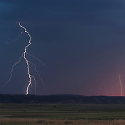 A lightning storm in Charles M. Russell National Wildlife Refuge. Montana