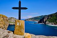 Espagne, Biscaye, Pays basque, Gaztelugatxe, ermitage de San Juan de Gaztelugatxe du Xe siècle // Spain, Biscay, Basque Country, Gaztelugatxe, tenth century hermitage of San Juan de Gaztelugatxe