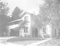 1925 South elevation, garage and laundry room at 1847 Camino Palmero