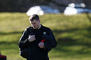 Dan Biggar of Wales. Wales rugby team training session at the Vale Resort  in Hensol, near Cardiff , South Wales on Tuesday 20th February 2018.  the team are preparing for their next NatWest 6 Nations 2018 championship match against Ireland this weekend.   pic by Andrew Orchard