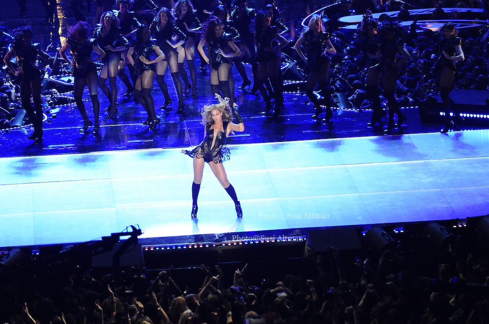 Beyonce performs the half time show at Super Bowl XlV11 IN New Orleans at the Mercedes Benz Super Dome. The Ravens went on tho beat the SF 49er's 34-32.Photo©Suzi Altman
