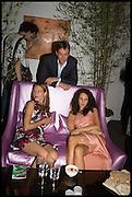 SANDRA ERKMAN; VANESSA VEIELLI DE MARI; NICCOLA VEIELLI DE MAR ( BEHIND ) Sotheby's Frieze  week party. New Bond St. London. 15 October 2014.