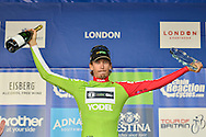 Japer Bovenhuis (NED) of AN Post Chain Reaction receives sprint trophy during the Tour of Britain 2016 stage 8 , London, United Kingdom on 11 September 2016. Photo by Mark Davies.