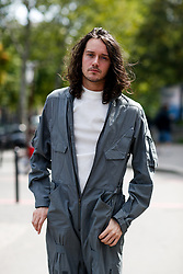 Street style, Cesar Domboy arriving at Lanvin Spring-Summer 2019 menswear show held at Palais de Tokyo, in Paris, France, on June 24th, 2018. Photo by Marie-Paola Bertrand-Hillion/ABACAPRESS.COM