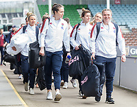 England players arrive at the ground<br /> <br /> Photographer Bob Bradford/CameraSport<br /> <br /> 2020 Women's Six Nations Championship - England v Wales - Saturday 7th March 2020 - The Stoop - London<br /> <br /> World Copyright © 2020 CameraSport. All rights reserved. 43 Linden Ave. Countesthorpe. Leicester. England. LE8 5PG - Tel: +44 (0) 116 277 4147 - admin@camerasport.com - www.camerasport.com