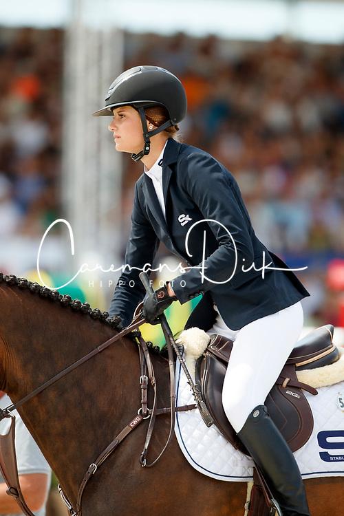 Conter Zoe, BEL, Zeta di Sabuci<br /> Rolex Grand Prix CSI 5* - Knokke 2017<br /> © Hippo Foto - Dirk Caremans<br /> 09/07/17
