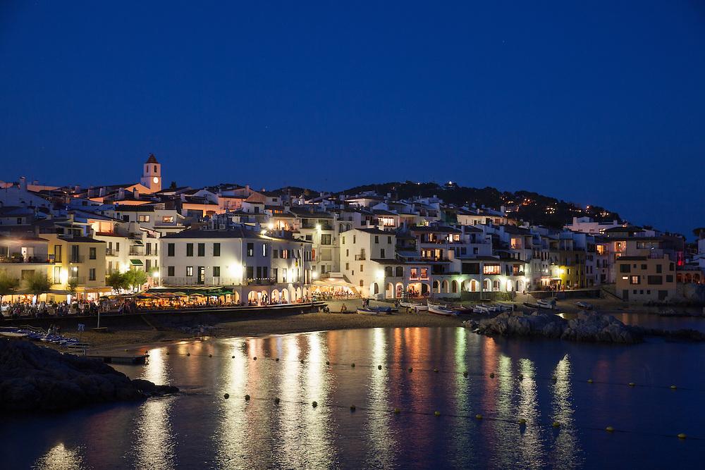 Cadaques at night, Salvador Dali's hometown, Girona, Catalonia, Spain.