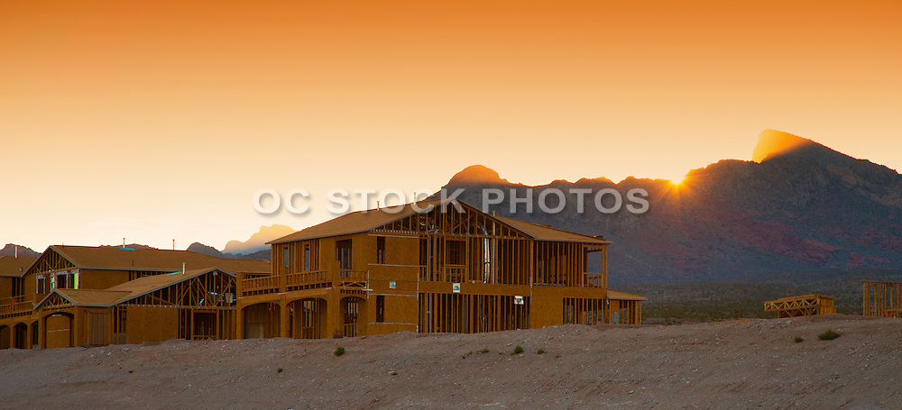 New Construction Home at Sunset