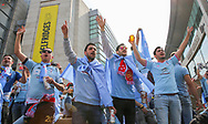 Celta Vigo fans before the Manchester United vs Celta Vigo Europa League Cup Semi Final match at Old Trafford, Manchester, United Kingdom on 11 May 2017. Photo by Phil Duncan.