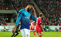 Olivier Giroud of Arsenal cuts a frustrated figure - Mandatory by-line: Robbie Stephenson/JMP - 23/11/2017 - FOOTBALL - RheinEnergieSTADION - Cologne,  - Cologne v Arsenal - UEFA Europa League Group H