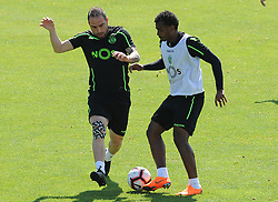 July 12, 2018 - Na - Nyon, 12/07/2018 - Sporting Clube de Portugal trained this morning during their pre-season training session in Switzerland at the Colovray Sports Center in Nyon. Bruno Cesar  (Credit Image: © Atlantico Press via ZUMA Wire)