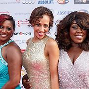 NLD/Amsterdam/20150629 - Uitreiking Rainbow Awards 2015, Edsilia Rombley, Glennis Grace en Berget Lewis