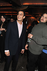 Left to right, ALEX DELLAL and ADAM WAYMOUTH at a party to celebrate the opening of the Muzungu Sisters Pop Up Store at Momo - an ethically sourced fashion brand  held at Momo, 25 Heddon Street, London on 27th October 2011.