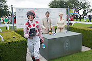 PHILLIPA HOLLAND; ROWAN ATKINSON; THE COUNTESS OF MARCH, Ladies Day, Glorious Goodwood. Goodwood. August 2, 2012