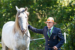 Juan Robles Marchena, (ESP), Cepellon, Fermentado, Fresado, Tensor, Velero XI - Horse Inspection Driving - Alltech FEI World Equestrian Games™ 2014 - Normandy, France.<br /> © Hippo Foto Team - Leanjo de Koster<br /> 25/06/14
