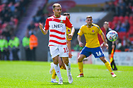 Herbie Kane of Doncaster Rovers (15) passes the ball during the EFL Sky Bet League 1 play off first leg match between Doncaster Rovers and Charlton Athletic at the Keepmoat Stadium, Doncaster, England on 12 May 2019.