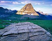Bearhat Mountain and Boulder, Glacier National Park, Montana