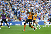 Hull City midfielder Mohammed Diame (17) missed chance head in his hands during the Sky Bet Championship Play-Off Final between Hull City and Sheffield Wednesday at Wembley Stadium, London, England on 28 May 2016. Photo by Phil Duncan.