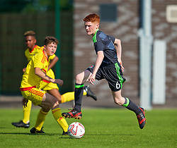 WREXHAM, WALES - Monday, July 22, 2019: Cai Griffiths of North during the Welsh Football Trust Cymru Cup 2019 at Colliers Park. (Pic by Paul Greenwood/Propaganda)
