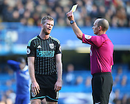 WBA's Chris Brunt gets booked during the Premier League match at Stamford Bridge Stadium, London. Picture date December 11th, 2016 Pic David Klein/Sportimage