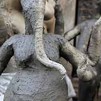 Asia, India, Calcutta. ganesh sculpture at  the potter's village of Kumartuli in Calcutta.