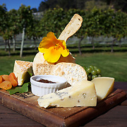 A cheese platter at The Gibbston Valley Cheesery. The Gibbston Valley Cheesery  is located in Queenstown's Valley of Vines, high in the southern mountains, Gibbston Valley Cheese specialises in sheep, cow and goat milk cheeses hand-crafted in the European style..The premises features a café, retail shop, cheese-making presentation and complimentary tastings of the Gibbston Valley Cheese range..23 March  2011.  Photo Tim Clayton.