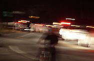 Middletown, New York - Cars and pedestrians leave Fancher-Davidge Park after a fireworks display by the lake at Fancher-Davidge Park at the conclusion of aStars and Stripes celebration on July 2, 2011.