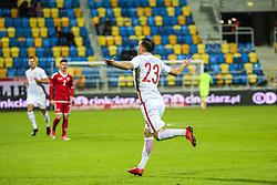 November 14, 2017 - Gdynia, Poland - Konrad Michalak (POL) celebrates a goal during UEFA U21 Championship Qualifier match between Poland and Denmark on November 14, 2017 in Gdynia, Poland. (Credit Image: © Foto Olimpik/NurPhoto via ZUMA Press)