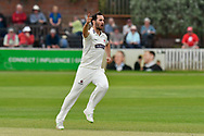 Wicket - Lewis Gregory of Somerset celebrates taking the wicket of Joe Clarke of Worcestershire during the Specsavers County Champ Div 1 match between Somerset County Cricket Club and Worcestershire County Cricket Club at the Cooper Associates County Ground, Taunton, United Kingdom on 22 April 2018. Picture by Graham Hunt.