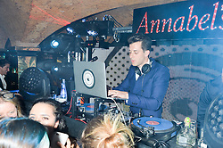 MARK RONSON at an exclusive performance by Mark Ronson at Annabel's, Berkeley Square, London on 2nd March 2016.