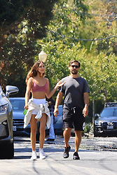 Toby Maguire and stunning girlfriend Tatiana Dieteman enjoy a walk in the sun as they take a break from quarantine in Los Angeles. 10 May 2020 Pictured: Toby Maguire, Tatiana Dieteman. Photo credit: Rachpoot/MEGA TheMegaAgency.com +1 888 505 6342