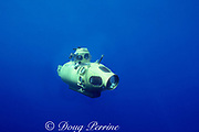 Delta research submersible in deep water off Biscayne National Park, Florida, USA ( Western Atlantic Ocean )