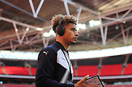 AFC Wimbledon striker Lyle Taylor (33) walking onto pitch during the The FA Cup 3rd round match between Tottenham Hotspur and AFC Wimbledon at Wembley Stadium, London, England on 7 January 2018. Photo by Matthew Redman.