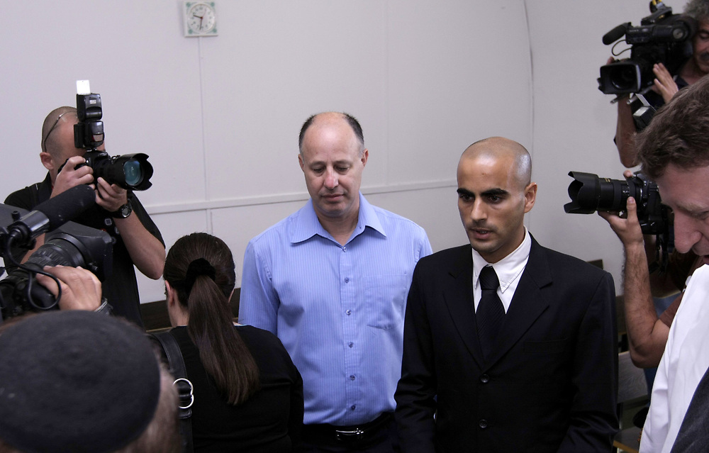 Israeli parliament member and former minister Tzachi Hanegbi is seen at the courtroom of the Magistrate's Court in Jerusalem, Israel, on June 29, 2008. Hanegbi is facing charges of perjury, fraud and nepotism during his time in office.