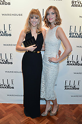Left to right, SUKI WATERHOUSE winner of the Elle Model of The Year Award and ARIZONA MUSE at the 17th Elle Style Awards 2014 in association with Warehouse held at One Embankment, 8 Victoria Embankment, London on 18th February 2014.