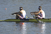Hazenwinkel, BELGIUM,  Men's Pair, [ M2-],  Bow, Matt LANGRIDGE and Steve WILLIAMS, in the last strokes of the morning time trial, at the GB Rowing Senior Trials, on Sun,15.04.2007  [Credit, Peter Spurrier/Intersport-images]   [Mandatory Credit, Peter Spurier/ Intersport Images]. , Rowing Course, Bloso, Hazewinkel. BELGUIM