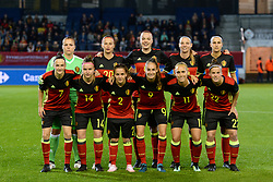 September 19, 2017 - Heverlee, BELGIUM - (upper L-R) Belgium's goalkeeper Justien Odeurs, Belgium's Julie Biesmans, Belgium's Tine De Caigny, Belgium's Nicky Van den Abbeele, Belgium's Laura De Neve, (lower L-R) Belgium's Elke Van Gorp, Belgium's Davinia Vanmechelen, Belgium's Davina Philtjens, Belgium's Tessa Wullaert, Belgium's Janice Cayman and Belgium's Laura Deloose pose for a team picture at the start of a soccer game between Belgium's Red Flames and the Republic of Moldova, a qualification match for the women's World Cup 2019 Tuesday 19 September 2017, in Heverlee, Leuven. BELGA PHOTO DAVID CATRY (Credit Image: © David Catry/Belga via ZUMA Press)