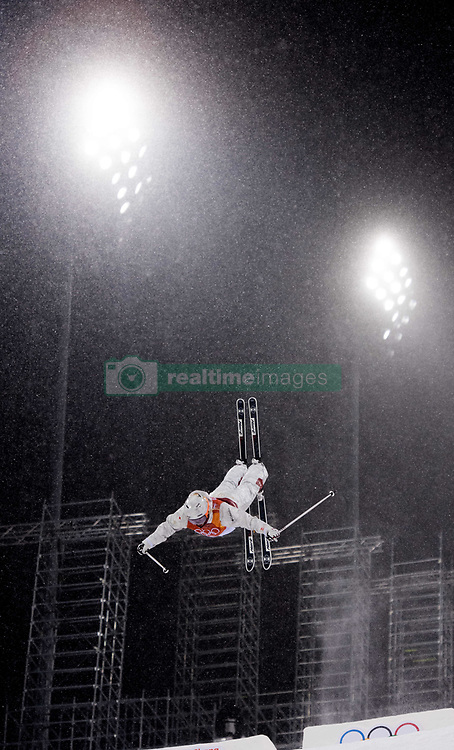 February 11, 2018 - Pyeongchang, South Korea - JUSTINE DUFOUR-LAPOINTE flies through falling snow during the finals of the Womens Moguls event Sunday, February 11, 2018 at Phoenix Snow Park at the Pyeongchang Winter Olympic Games. Dufour-Lapointe took the silver medal in the event.  Photo by Mark Reis, ZUMA Press/The Gazette (Credit Image: © Mark Reis via ZUMA Wire)