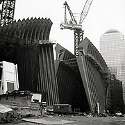Santiago Calatrava's soaring World Trade Center PATH Terminal at the World Trade Center in lower Manhattan.