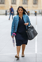 © Licensed to London News Pictures. 12/06/2016. London, UK. Employment Minister PRITI PATEL arrives at BBC Broadcasting House in London to appear on The Andrew Marr show on BBC One on Sunday, 12 June 2016. Photo credit: Tolga Akmen/LNP
