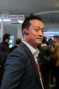 Monday 25th, 2019. BARCELONA, SPAIN. Attendee at Huawei 5G networks stand. Mobile World Congress Barcelona 2019 (photo Edu Bayer)