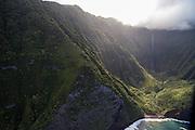 Papalaua Valley and Waterfall, North Shore, Molokai, Hawaii